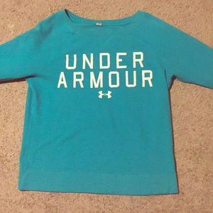 Blue under armour crew neck size S